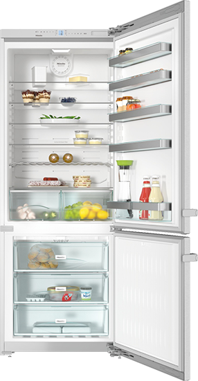 "KFN 15943 D edt/cs 30"" Freestanding bottom mount fridge freezer"