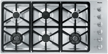 "42"" 6-Burner KM 3484 G Gas Cooktop"