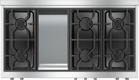 """48"""" KMR 1356 Gas Rangetop with Griddle"""